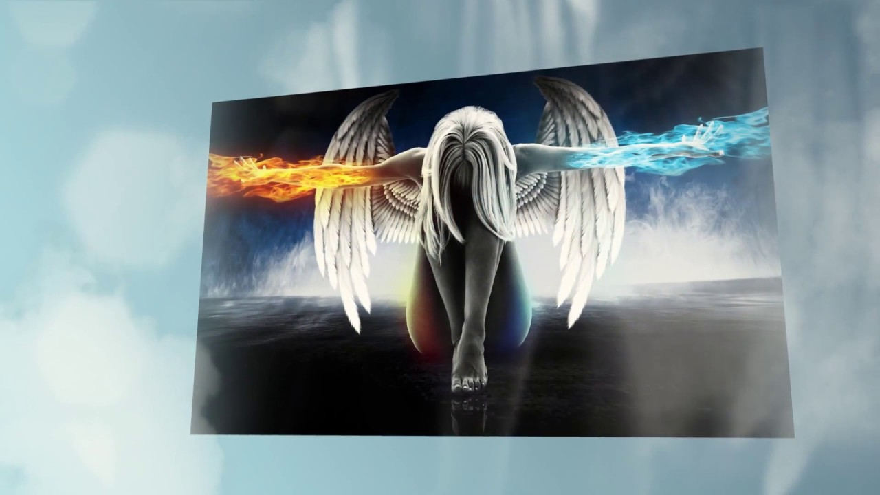 Angel wall art 5 piece canvas youtube for Angel wall decoration