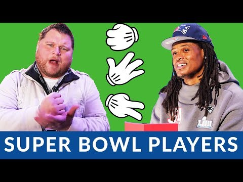 Super Bowl 53 - Rock, Paper, Scissors with NFL Players
