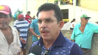 Vinicius Saraiva na ordem de serviço de conclusão da Escola Modelo de Morada Nova