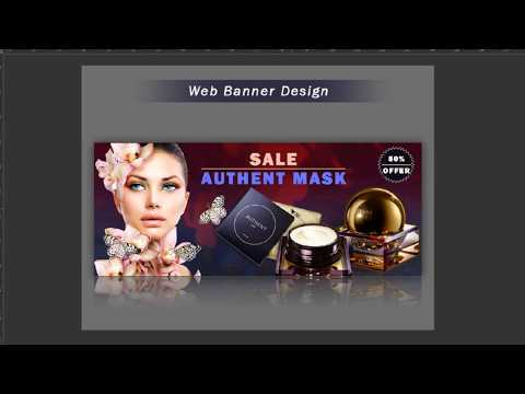 Photoshop Tutorial Web Banner Design | How to Design Banner in photoshop | Graphic Design Tutorial thumbnail