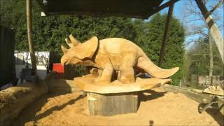 Chainsaw Carving a Triceratops - Chainsaw Dave