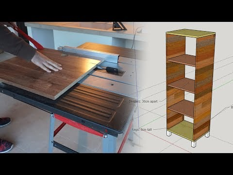 Making a storage cabinet out of particle board (also, new table saw!)