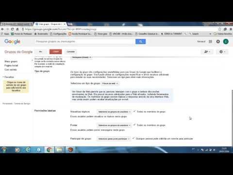 Criando grupos no google groups