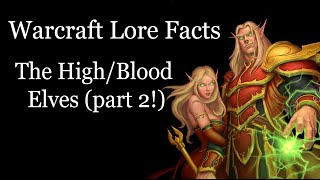 Warcraft Lore Facts - The High/Blood Elves #2