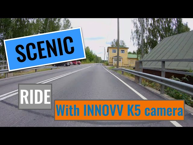 Scenic ride through road number 659 from north to south in Central Finland. BMW K1600GTL+INNOVV K5