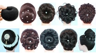 9 easy hairstyle for navratri || navratri special hairstyles || juda hairstyle || ladies hair style