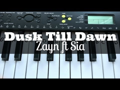 Dusk Till Dawn - ZAYN Ft Sia | Easy Keyboard Tutorial With Notes (Right Hand)