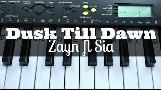 Video Dusk Till Dawn - ZAYN ft Sia | Easy Keyboard Tutorial With Notes (Right Hand) download MP3, 3GP, MP4, WEBM, AVI, FLV Juli 2018