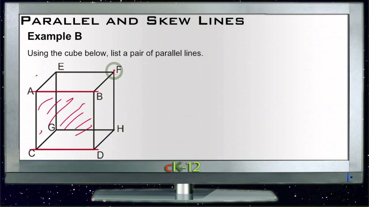 Parallel And Skew Lines Examples Basic Geometry Concepts Youtube
