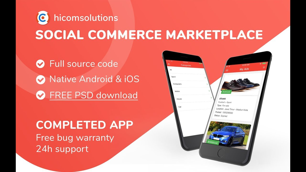 Top 9 mobile apps marketplace to buy and sell source code.