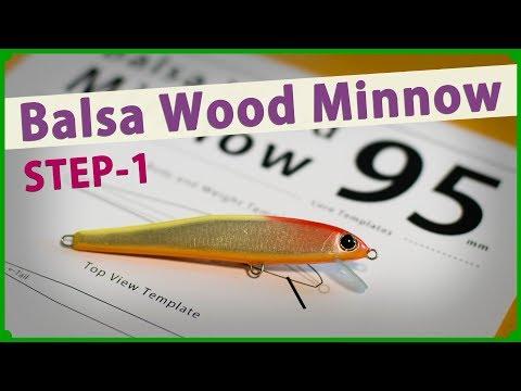 How to make a 95 Balsa Wood Minnow (Step-1) / 95mmの自作ハンドメイドミノー 1