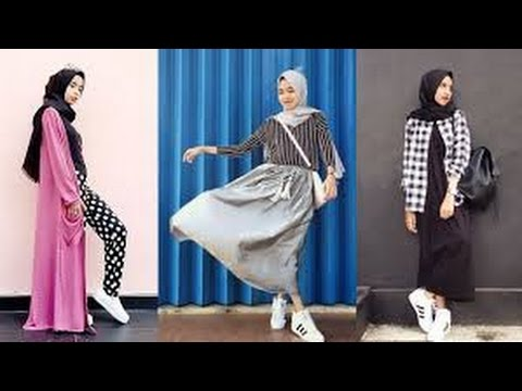 Hijab styles with sneakers - YouTube