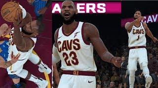 NBA 2K18 LeBron James KING!!!!! & Derrick Rose Highlights vs Magic 2017.10.21