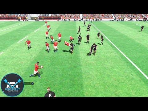 "Rugby 18 Gameplay ""BRITISH & IRISH LIONS VS. NEW ZEALAND"" Full Match! (Playstation 4 Pro Gameplay)"