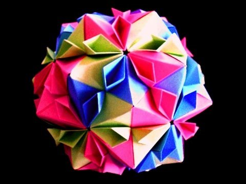 How to make an Origami Cherry Blossom Ball - YouTube - photo#18