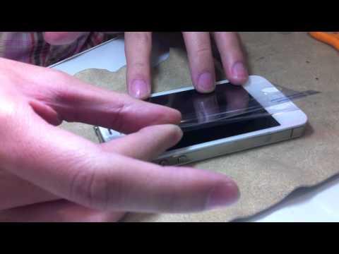 วิธีติดฟิล์มกันรอย iPhone 4s