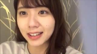 20190314 清水麻璃亜 (AKB48 チーム8) SHOWROOM 夜のお風呂前のゲリラ配信.