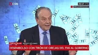 05-04-2019 - Carlos Heller en C5N – Minuto Uno, con Gustavo Sylvestre – El FMI pide más ajuste