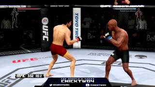 EA SPORTS UFC 2014 BRUCE LEE ONLINE RANKED MATCH XBOX ONE GAMEPLAY