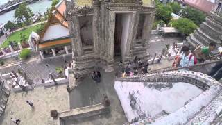 Wat Arun Tempel Thailand Temple of Dawn Bangkok 2014  GoPro Hero 3+ HD