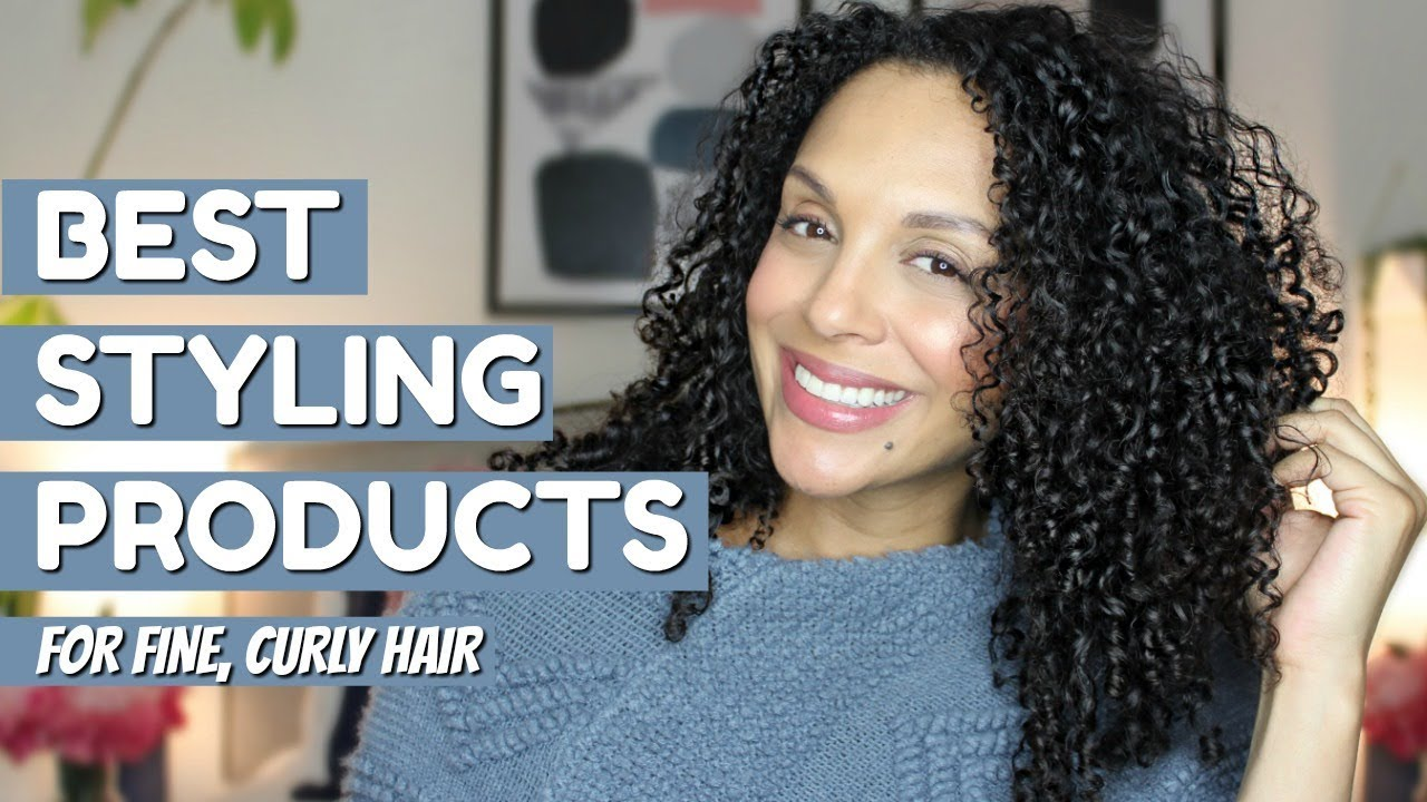 The Best Styling Products For Fine Curly Hair Discocurlstv Youtube