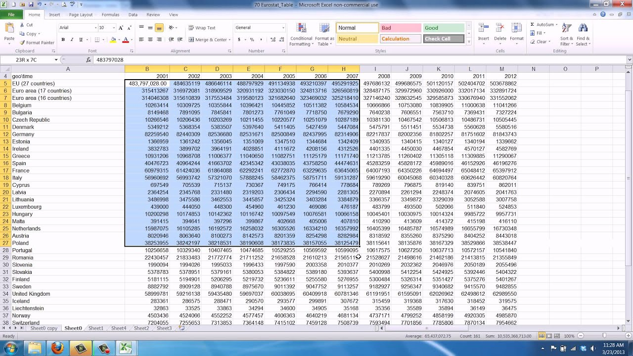 Excel worksheet separator worksheets for school toribeedesign how to get a thousands separator in excel 2010 youtube robcynllc Choice Image