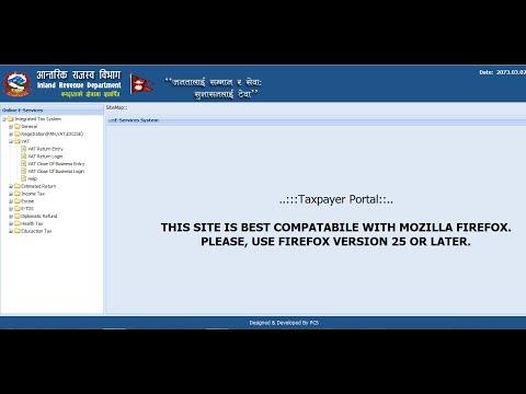 Online VAT Returns filing in Nepal