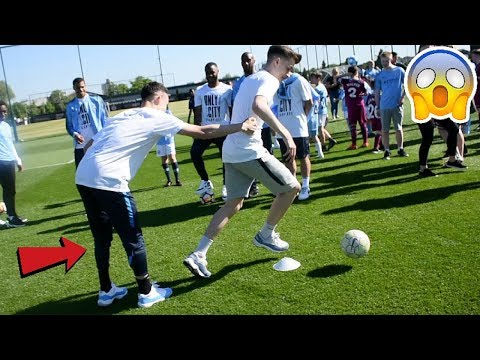 CAN I NUTMEG THE MANCHESTER CITY PLAYERS !? (STERLING , FODEN & SANE)
