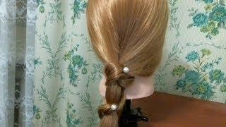 БЫСТРАЯ причёска на КАЖДЫЙ день. Quick hairstyle(В этом видео я вам покажу как сделать классную прическу =) Музыка из видео: http://www.youtube.com/user/TheQLon Подписывайте..., 2014-02-05T12:25:09.000Z)