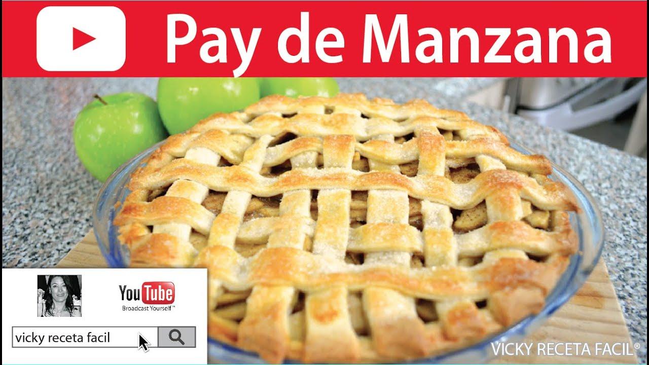 Cómo hacer PAY DE MANZANA   Vicky Receta Facil - YouTube