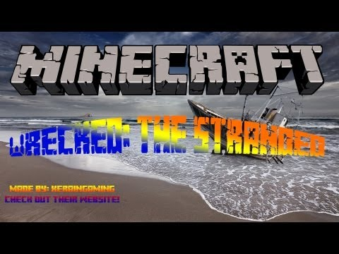 Minecraft: Survival Lets Play/Rage!-Ep.1! Wrecked: The Stranded- Giant Octopus?