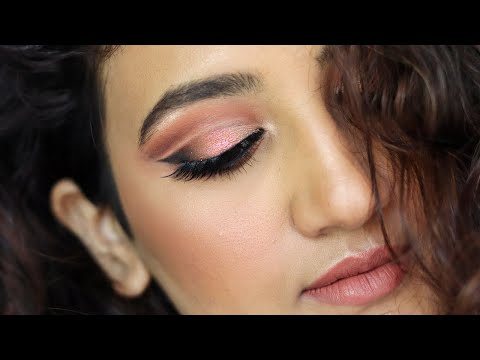 New Years Eve Makeup Tutorial   Cut Crease Eyeshadow   Huda Beauty Rose Gold Remasted Palette from YouTube · Duration:  7 minutes 37 seconds