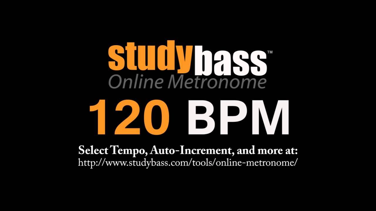 120 BPM Online Metronome (3 min) | StudyBass