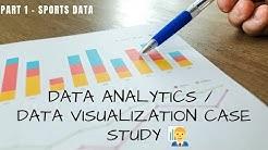 Data Analytics Case Study 1 |  Analyze Sport Data | Data Visualization Practical Question