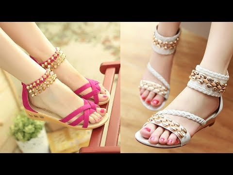 073893e6c06d62 Ladies Summer Flat Sandals 2018   Fashion Ladies Or Girls Summer Flat
