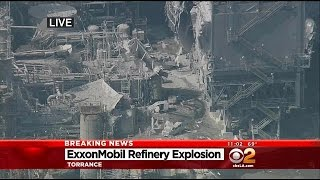 Torrance Fire Department Crews Respond To Explosion At ExxonMobil Refinery