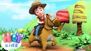 The Horse Song for kids : Hop, My Pony Hop!  🐴 HeyKids - Nursery Rhymes