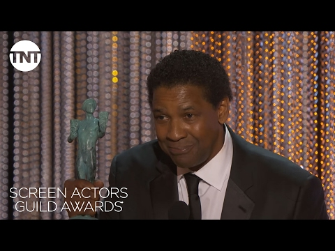 Denzel Washington Wins His First SAG Award | 23rd Annual SAG Awards | TNT