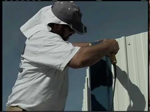 Metal Building Installation Step 18 Corner Trim Youtube