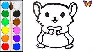Как нарисовать ИГРУШКУ ХОМЯКА /  раскраска ХОМЯЧОК  для детей / Раскраски малышам
