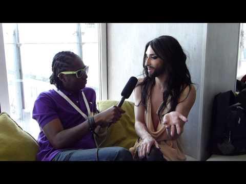 Interview: Conchita Wurst (Austria) - London Eurovision Party 2014 | wiwibloggs