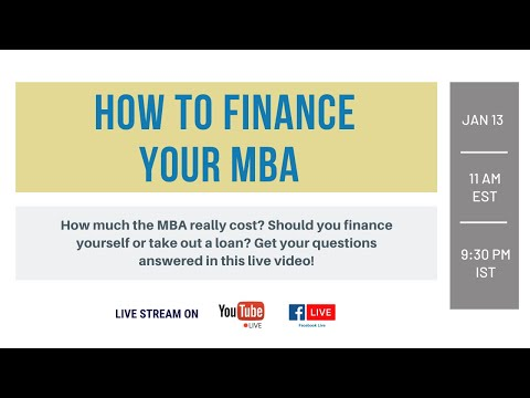How to Finance Your MBA Education
