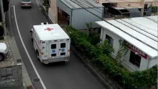 嘉手納基地の軍消防の救急車