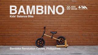 BAMBINO Bamboo Balance Bike Wins Good Design Award : Japan Design Center | Bryan McClelland, Bambike