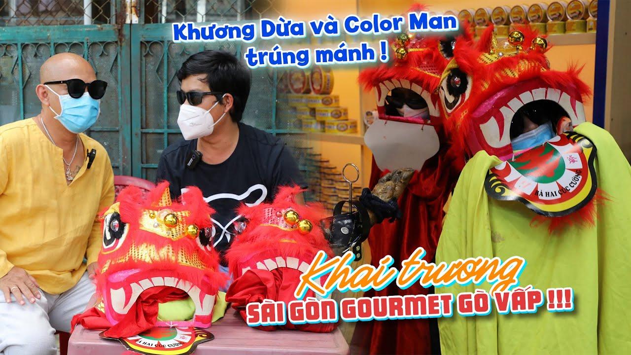 """Download Khương Dừa và Color Man khai trương dịch vụ """"lân sư rồng"""" và trúng ngay mối sộp ngay ngày đầu tiên !"""