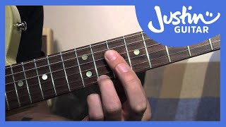 how to play dominant 7th chord grips blues rhythm guitar lessons bl 205