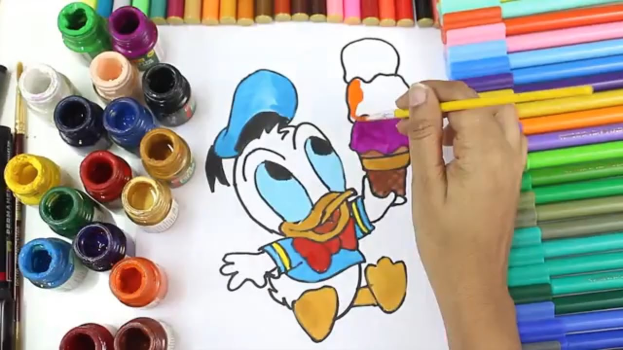 Disney Baby Donald Duck Ice Cream Coloring Pages