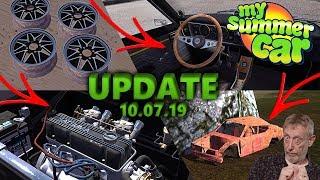 NOWE CZĘŚCI GT, CZWARTY WRAK i inne - My Summer Car UPDATE [10.07.2019] Omówienie Aktualizacji