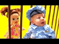 BABY POLICE Baby Cop Police Chase + Baby Alive Doll Goes To Jail by DisneyCarToys Herman DjMullikin