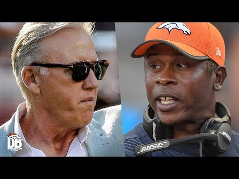 President of Football Operations/GM John Elway and Head Coach Vance Joseph on initial roster